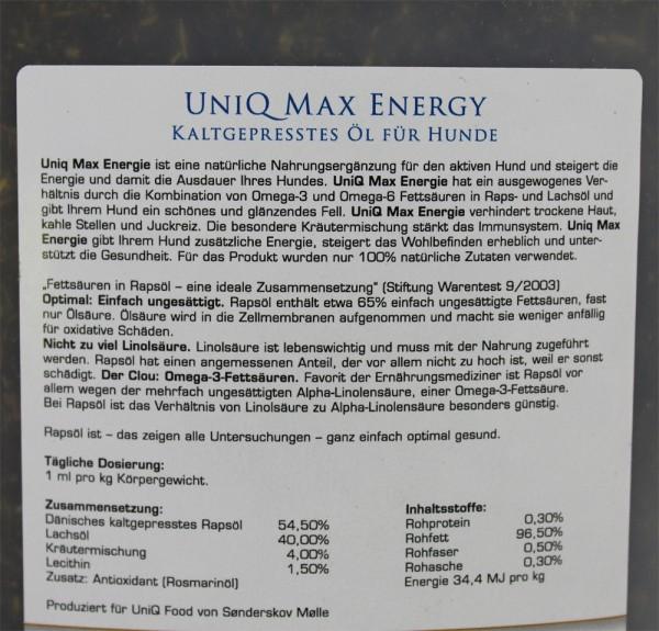 UniQ Öl - Max Energie 1 Liter