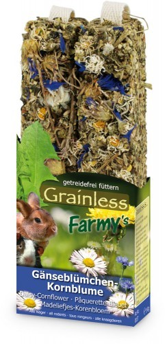 JR-Farm Grainless Farmys Gänseblümchen Kornblume 140g
