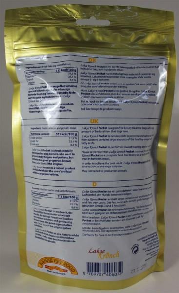 Henne Pet Food Kronch Lachs-Snack Pocket