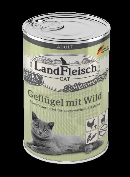 Landfleisch Cat Adult Topf Geflügel mit Wild 400g