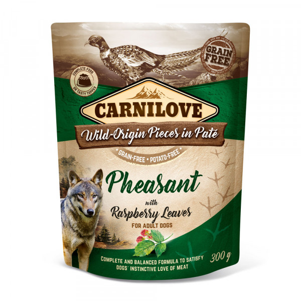 Carnilove Nassfutter Pate Pheasant with Raspberry Leaves 300g