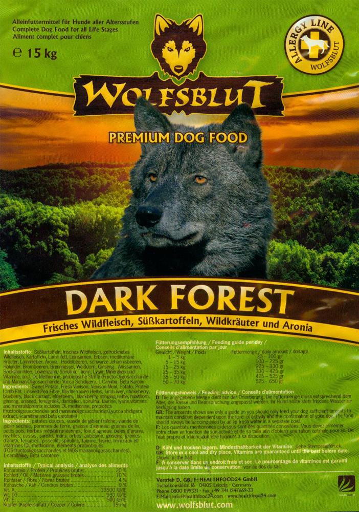 wolfsblut dark forest hundefutter g nstig online bestellen. Black Bedroom Furniture Sets. Home Design Ideas