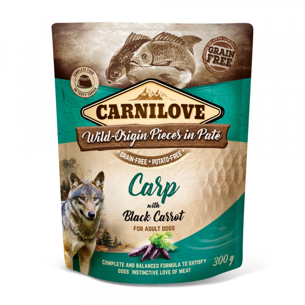 Carnilove Nassfutter Pate Carp with Black Carrots 300g