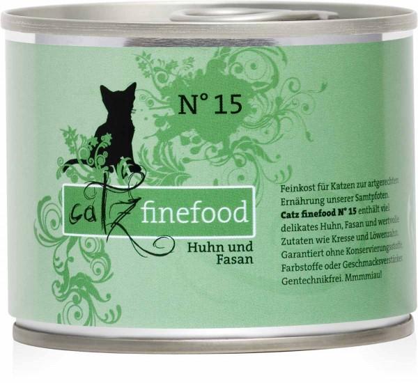 Catz finefood No. 15 Huhn und Fasan 200g