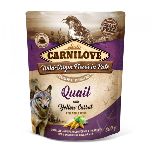 Carnilove Nassfutter Pate Quail with yellow Carrot 300g