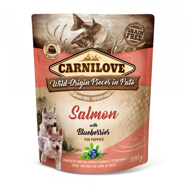 Carnilove Nassfutter Pate Salmon with Blueberries for Puppies 300g