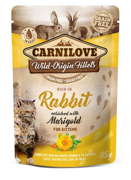 Carnilove Cat Pouch Kitten Rabbit with Marigold 85g