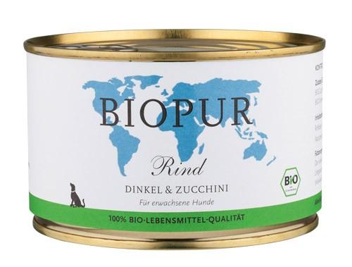 BIOPUR Rind mit Dinkel für Hunde 400g Dose