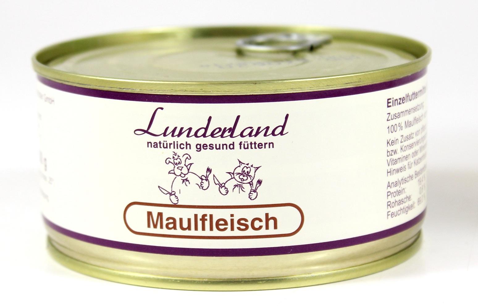 lunderland maulfleisch 300g fleischdose bei futtershop24 hundefutter und. Black Bedroom Furniture Sets. Home Design Ideas