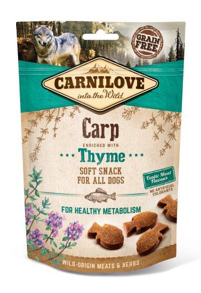 Carnilove Soft Snack Carp with Thyme 200g
