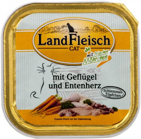 Landfleisch Cat - Schlemmertöpfchen Lachsfilet & Geflügel 10 x 100g