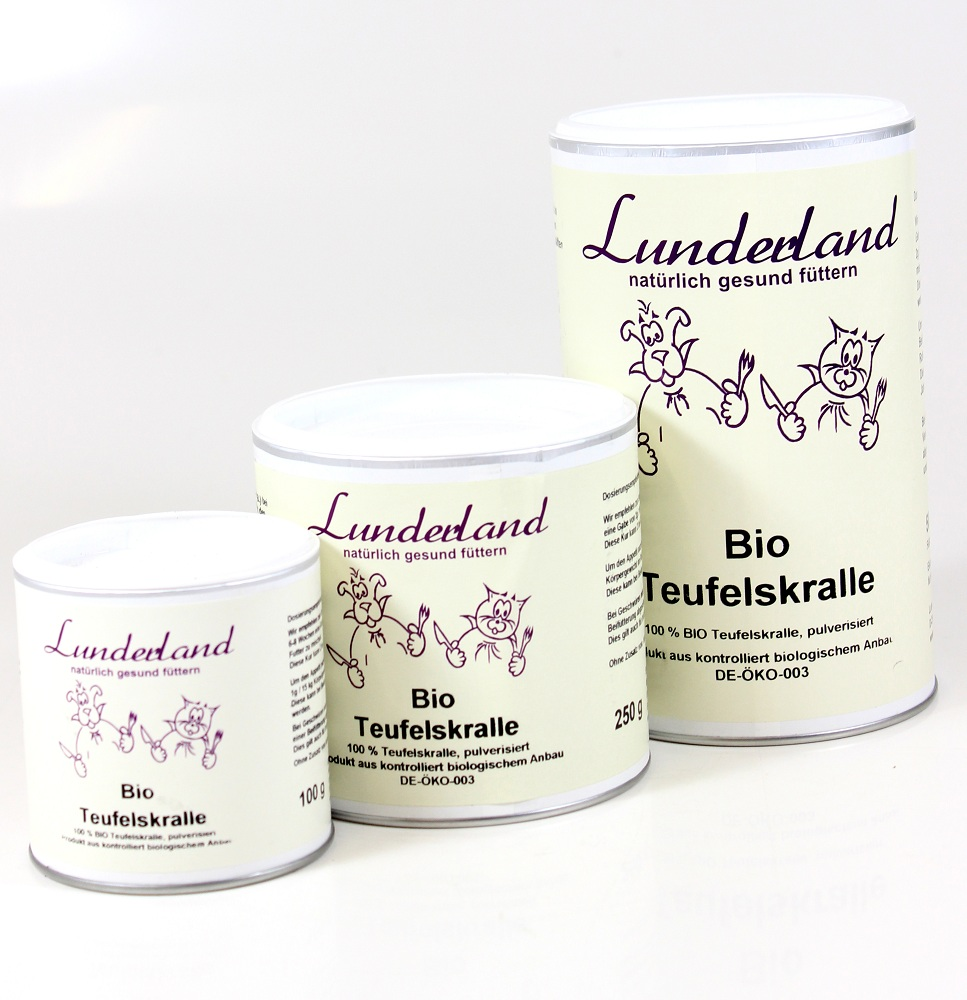 lunderland bio teufelskralle 100g futtershop24 hundefutter und katzenfutter g nstig online. Black Bedroom Furniture Sets. Home Design Ideas
