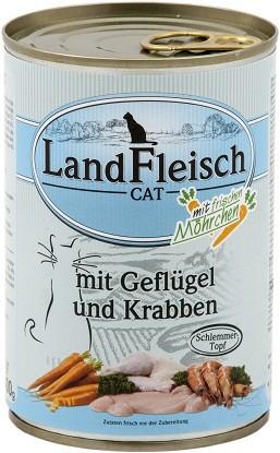 Landfleisch Cat - Schlemmertopf Geflügel & Krabben 400g MHD: 16.06.2018