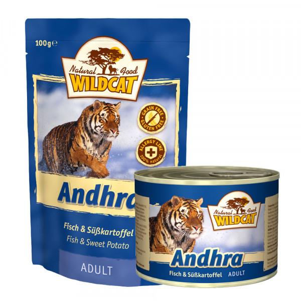 Wildcat Katzenfutter Andhra mit Fisch und Süßkartoffel 100g Pouch