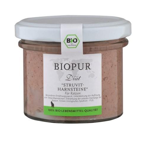 BIOPUR Struvit-Harnsteine 100g Glas Diät für Katzen