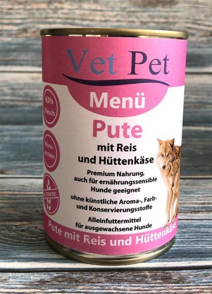 Vet Pet Pute mit Reis und Hüttenkäse
