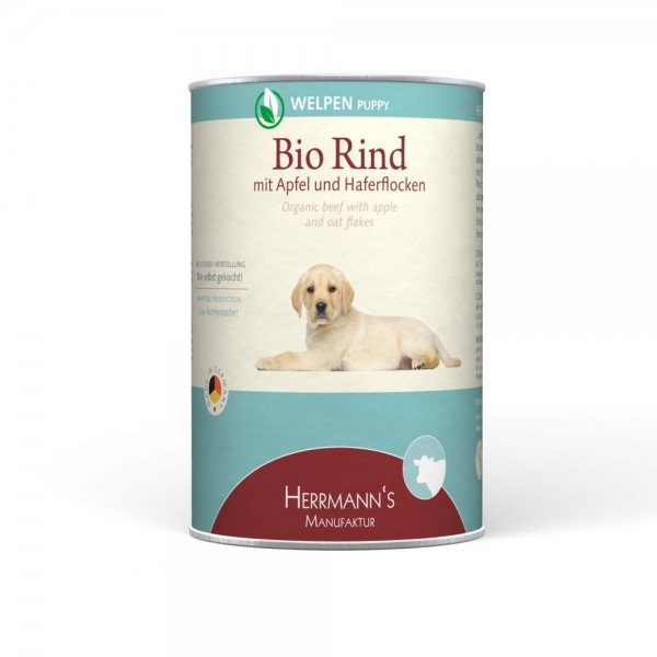 Herrmanns Selection Welpennassfutter Bio Rind Menü