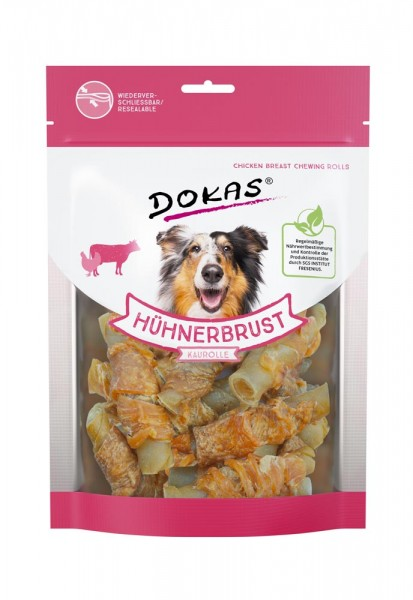 Dokas Kausnacks für Hunde Hühnerbrust Kaurolle
