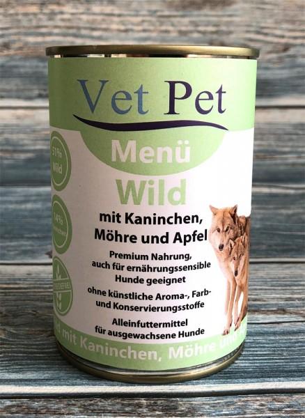 Vet Pet Wild mit Kaninchen, Möhre und Apfel