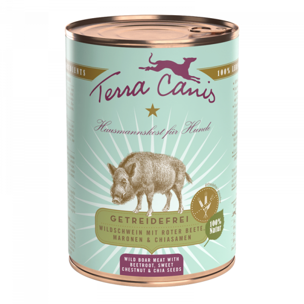 Terra Canis Wildschwein mit Roter Beete getreidefreies Menü