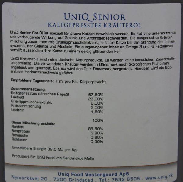 UniQ Senior Cat, 0,5 Liter