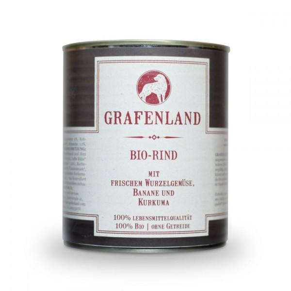Grafenland Bio Hundefutter Rind mit gelber Rübe