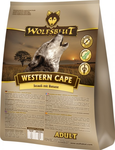 Wolfsblut Western Cape mit Strauß und Banane
