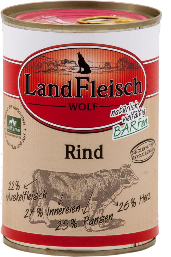 landfleisch wolf rind 400g dose g nstig online bestellen. Black Bedroom Furniture Sets. Home Design Ideas