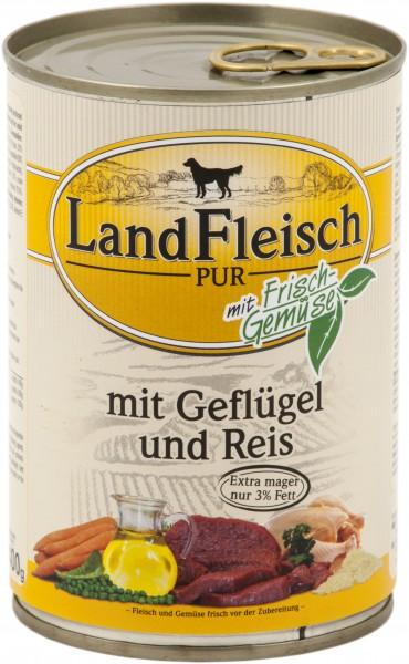 Landfleisch Pur Geflügel & Reis extra mager