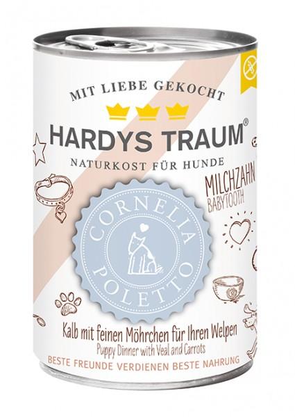 Hardys Traum Cornelia Poletto Edition Kalb mit feinen Möhrchen für Ihren Welpen 400g
