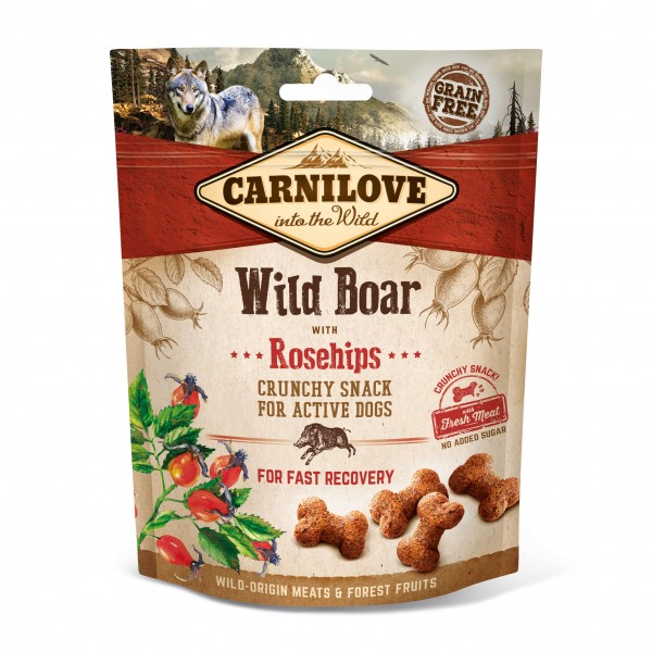 Carnilove Crunchy Snack Wild Boar with Rosehips 200g