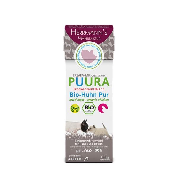 Herrmanns Puura Bio-Huhn Trockenfleisch Pur