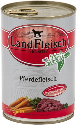 landfleisch sensitive pferdefleisch pur 400g futtershop24 hundefutter und katzenfutter g nstig. Black Bedroom Furniture Sets. Home Design Ideas