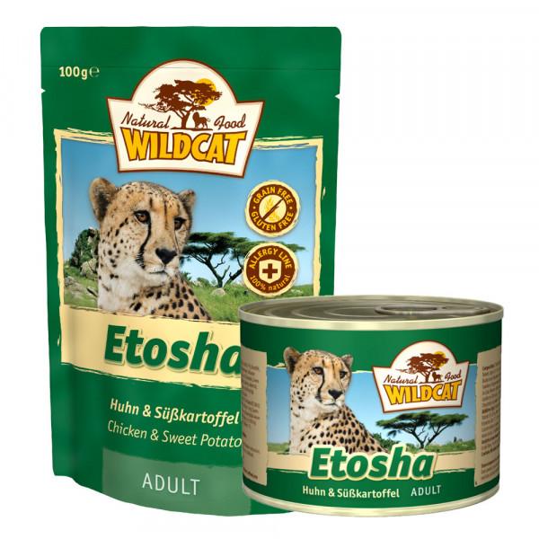 Wildcat Katzenfutter Etosha mit Huhn und Süßkartoffel 100g Pouch