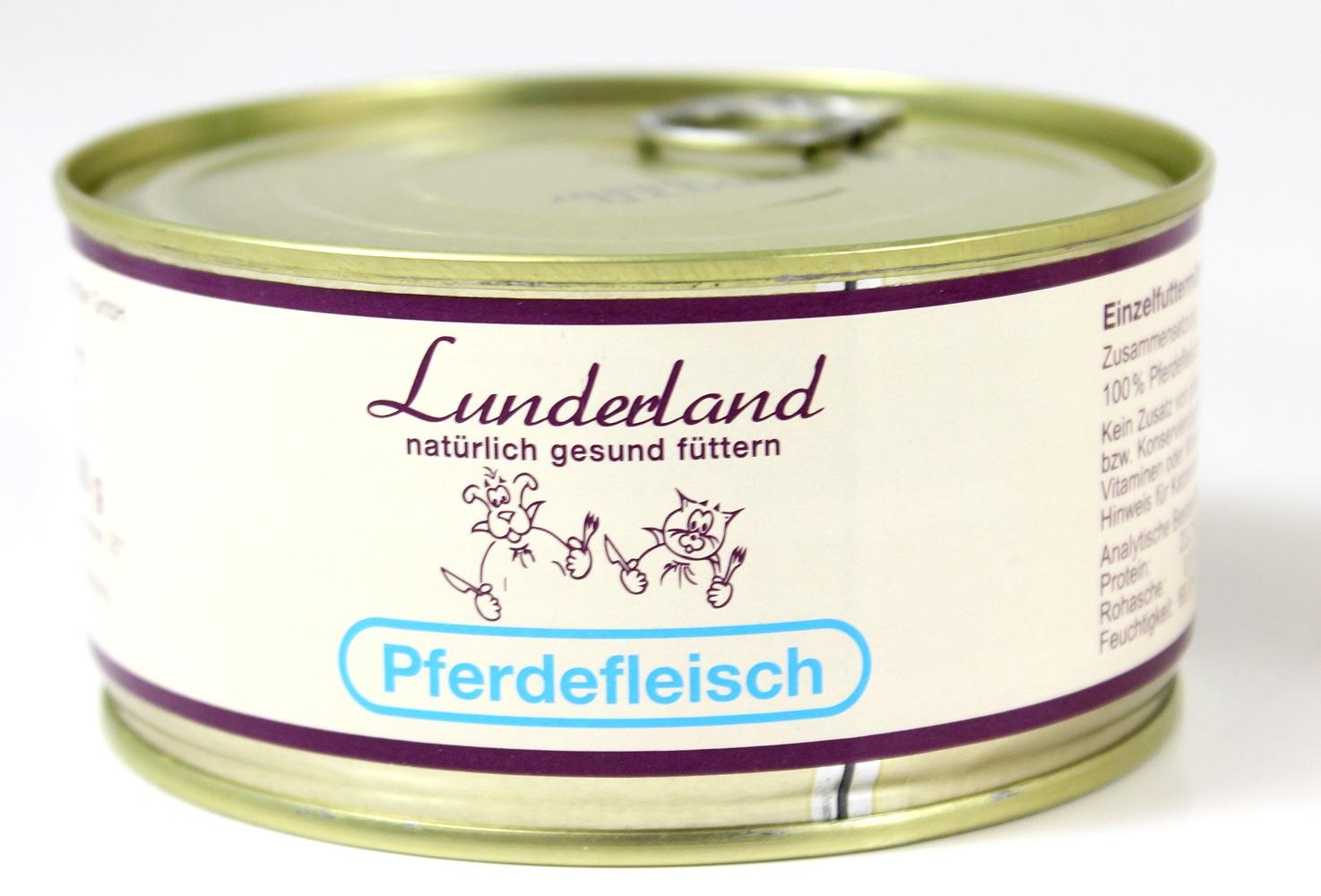 lunderland pferdefleisch pferdefleisch f r hunde und katzen futtershop24 hundefutter und. Black Bedroom Furniture Sets. Home Design Ideas
