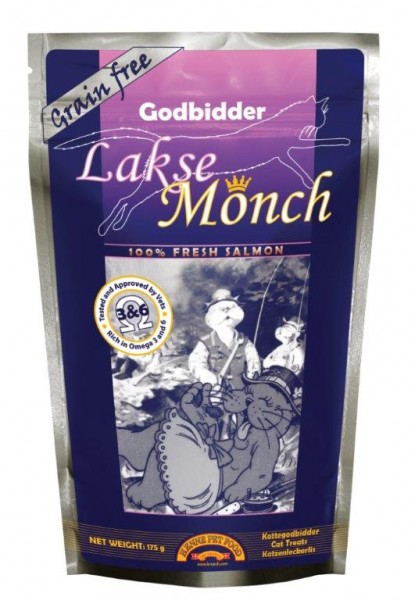 Henne Pet Food Lachs Snack Lakse Mönch 175g
