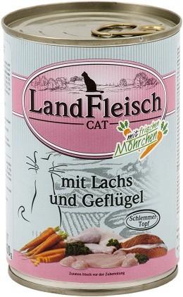 Landfleisch Cat - Schlemmertopf Lachs & Geflügel 400g