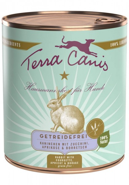 Terra Canis Sensitiv Kaninchen mit Zucchini, Aprikose & Borretsch