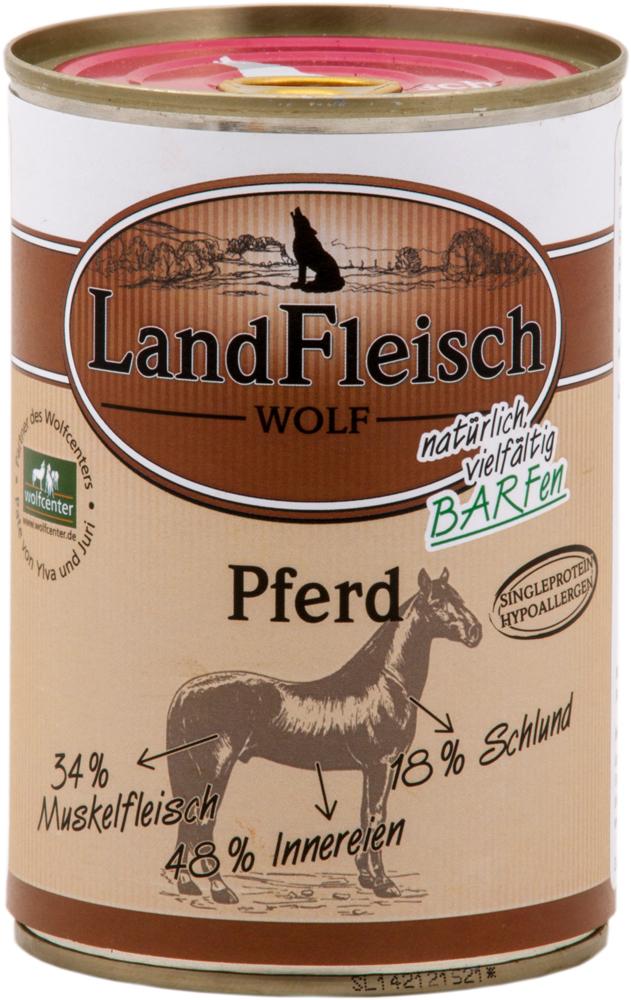 landfleisch wolf sensibel pferd 400g reinfleischdosen. Black Bedroom Furniture Sets. Home Design Ideas
