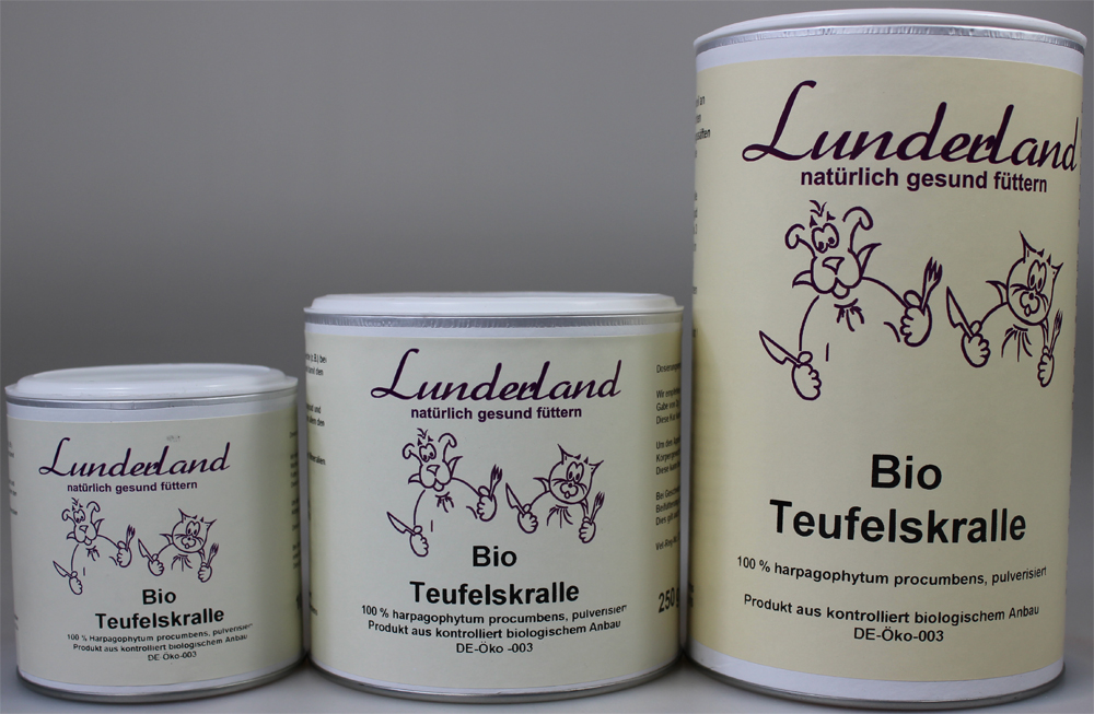 lunderland bio teufelskralle 100g futtershop24. Black Bedroom Furniture Sets. Home Design Ideas