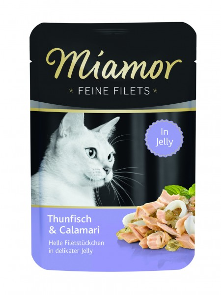 Miamor Feine Filet Thunfisch & Calamari in Jelly 100g