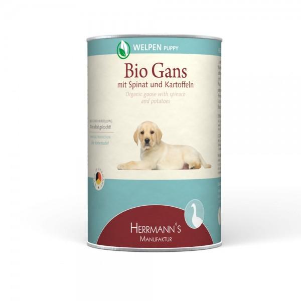Herrmanns Selection Welpennassfutter Bio Gans Menü