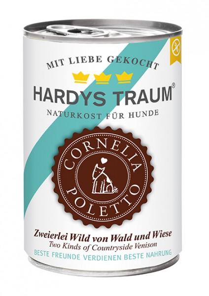 Hardys Traum Cornelia Poletto Edition Zweierlei Wild von Wald und Wiese 400g Dose