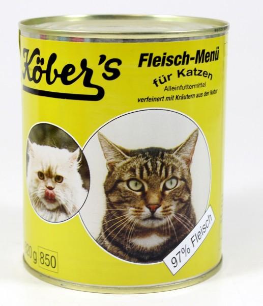 Köbers Fleisch Menü für die Katze