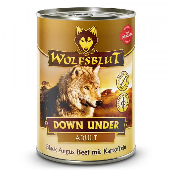 Wolfsblut Nassfutter Down Under mit Black Angus Rind und Kartoffeln