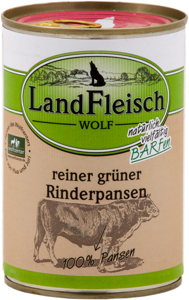 landfleisch wolf rinderpansen 400g hundefutter ohne. Black Bedroom Furniture Sets. Home Design Ideas
