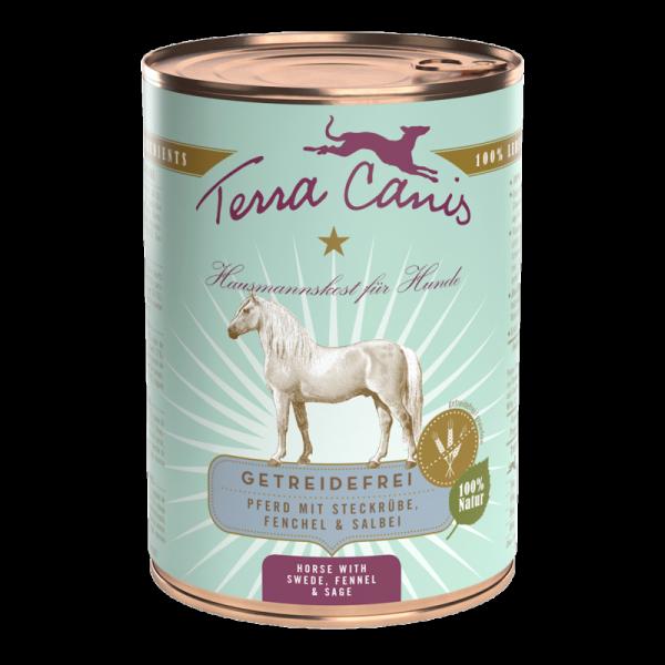 Terra Canis Pferd mit Steckrübe getreidefreies Menü