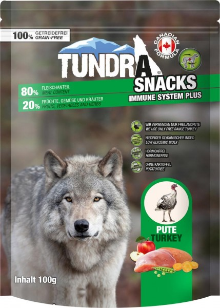 Tundra Snack Immune System Pute 100g