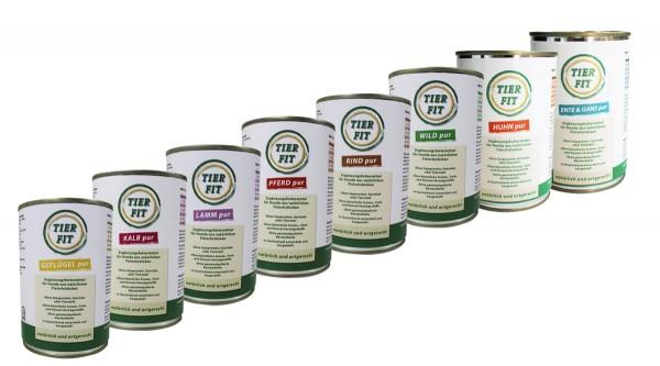 TierFit Pur Fleischdosen Testpaket