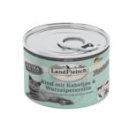 Landfleisch Cat Adult Pastete Rind, Kabeljau und Wurzelpetersilie